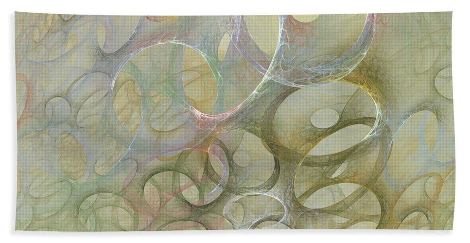 Fractal Hand Towel featuring the digital art Circles In Circles by Deborah Benoit