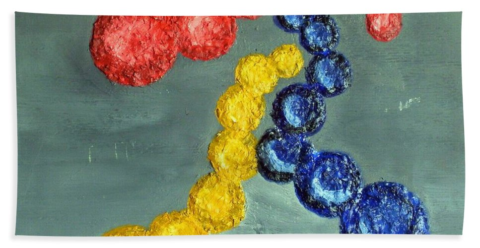 Still Life Paintings Hand Towel featuring the painting Circles Of Life by Leslye Miller
