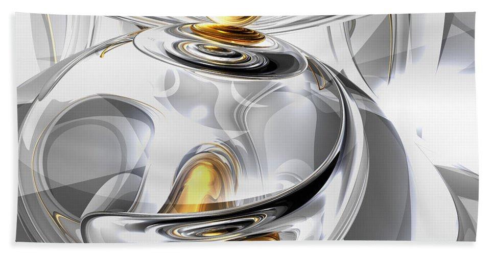 3d Bath Sheet featuring the digital art Circumvoluted Abstract by Alexander Butler