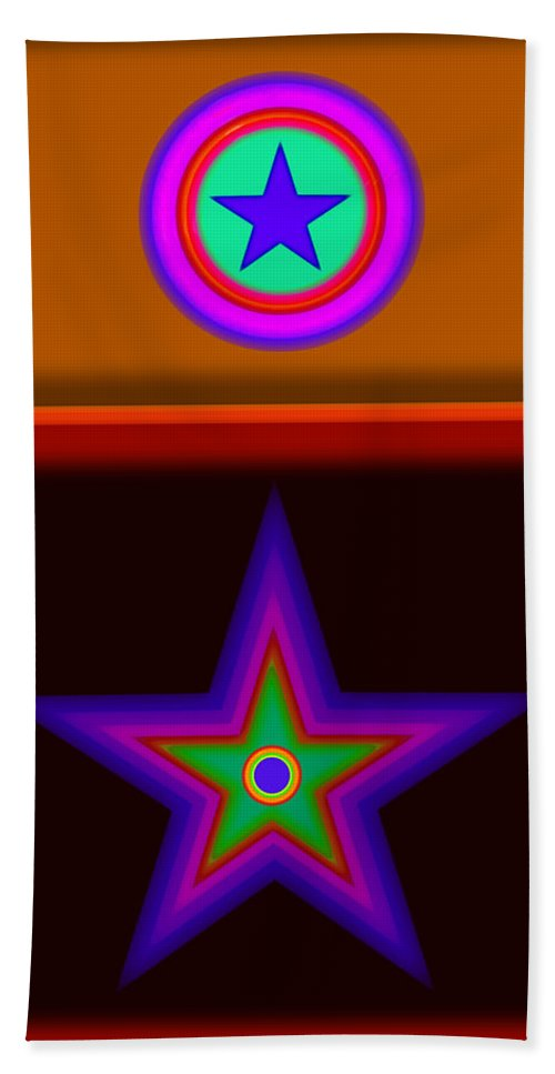 Classical Hand Towel featuring the digital art Circus Star by Charles Stuart