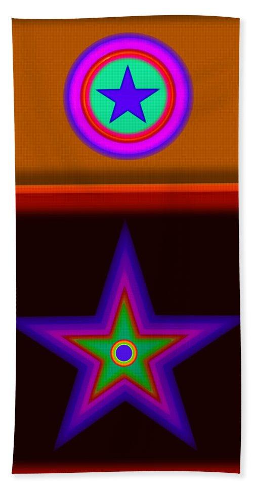 Classical Bath Towel featuring the digital art Circus Star by Charles Stuart