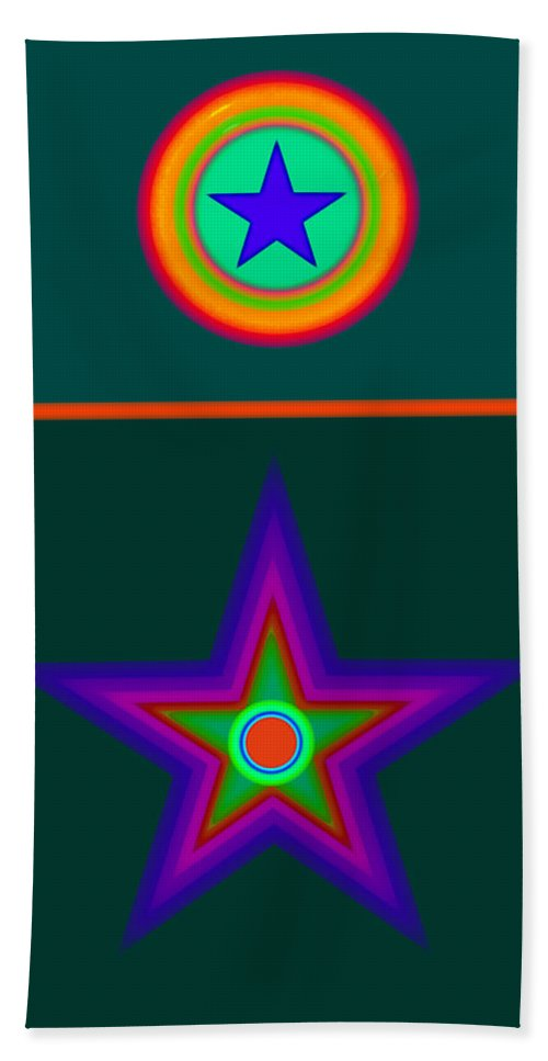Circus Hand Towel featuring the digital art Circus Vert by Charles Stuart