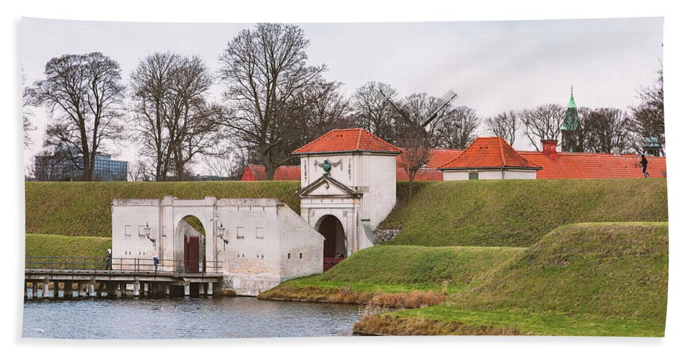 Kastellet Bath Sheet featuring the photograph Citadell In Copenhagen Denmark by Sophie McAulay