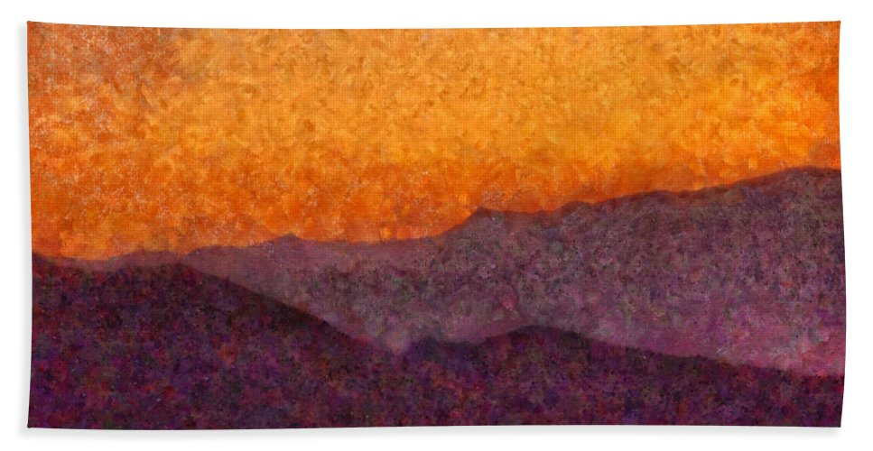 Savad Bath Sheet featuring the photograph City - Arizona - Rolling Hills by Mike Savad