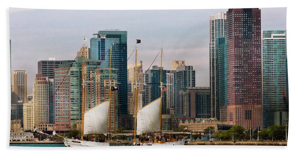 Illinois Hand Towel featuring the photograph City - Chicago - Cruising In Chicago by Mike Savad