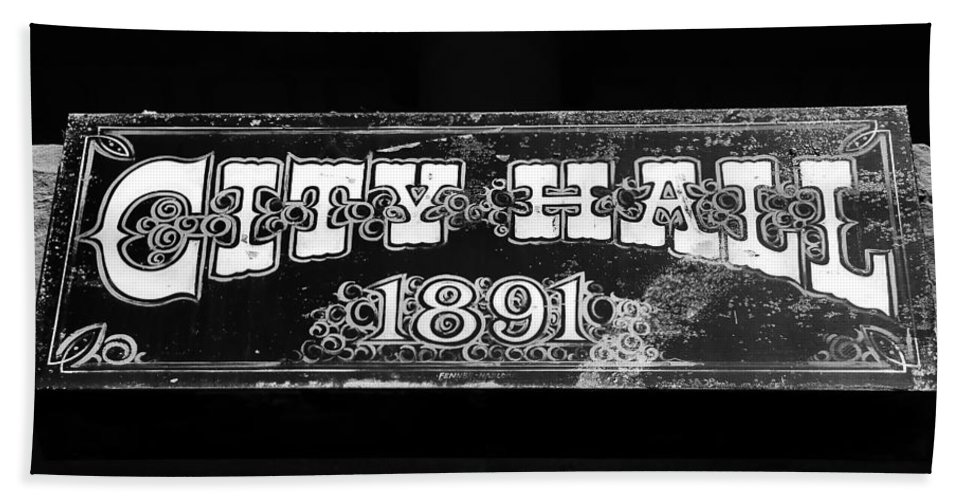 City Hall Hand Towel featuring the photograph City Hall 1891 by David Lee Thompson