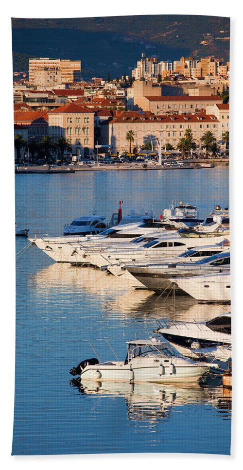 Split Hand Towel featuring the photograph City Of Split In Croatia by Artur Bogacki