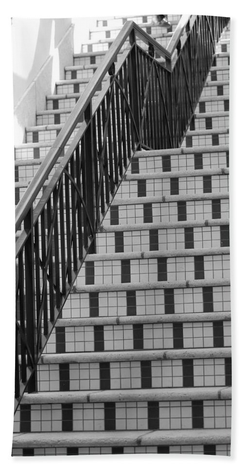 Architecture Hand Towel featuring the photograph City Stairs II by Rob Hans