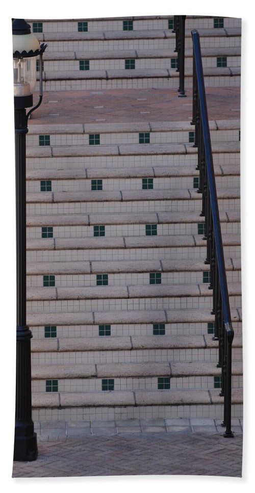 Architecture Hand Towel featuring the photograph City Stairs by Rob Hans