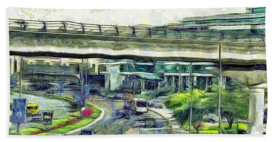Vehicles Hand Towel featuring the photograph City Traffic by Ashish Agarwal