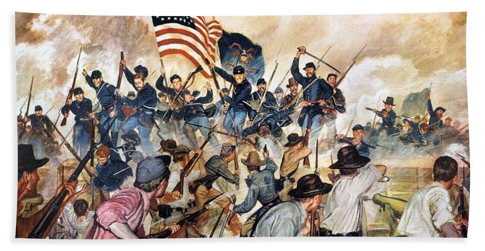 1863 Bath Sheet featuring the photograph Civil War: Vicksburg, 1863 by Granger