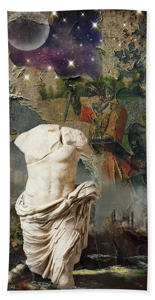 Decay Bath Sheet featuring the digital art Civilization I by Debbra Jansen