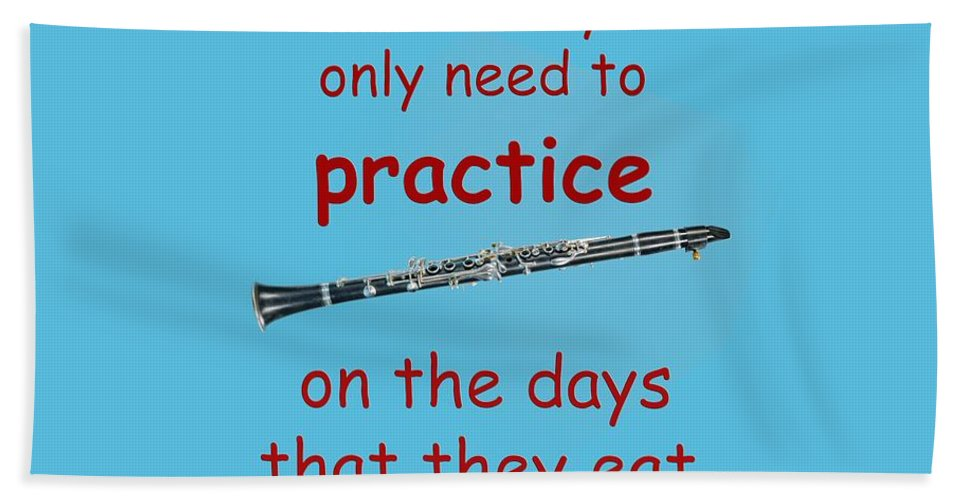 Clarinets Hand Towel featuring the photograph Clarinets Practice When They Eat by M K Miller