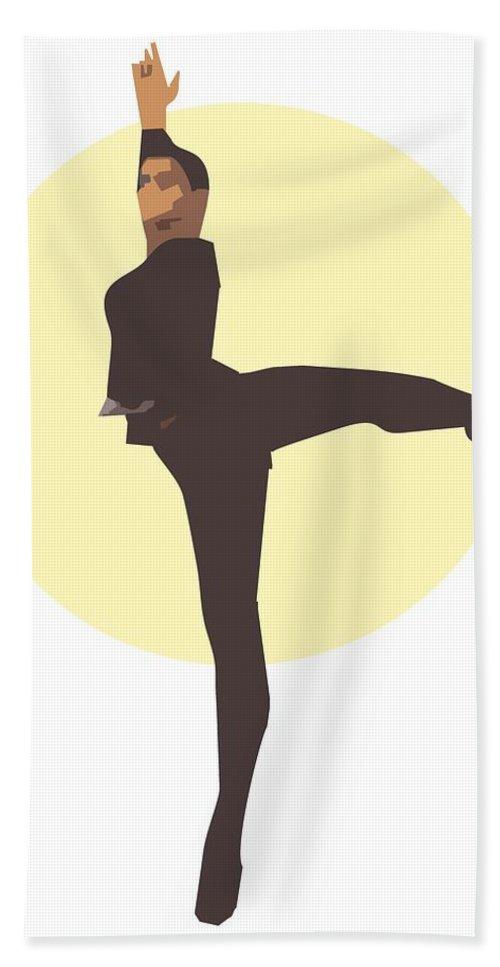 Dancer Bath Sheet featuring the digital art Classic Ballet Dancer by Joaquin Abella