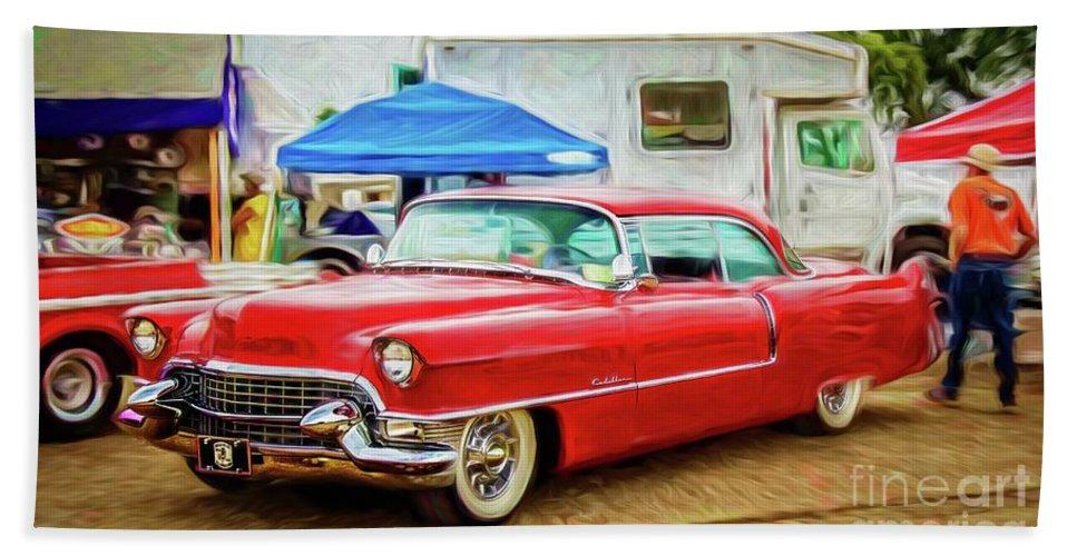 Warrena J. Barnerd Hand Towel featuring the photograph Classic Cadillac by Warrena J Barnerd