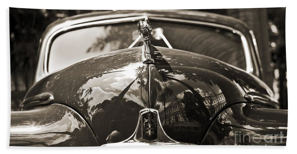 Park Hand Towel featuring the photograph Classic Car Detail - Dodge 1948 by Carlos Alkmin