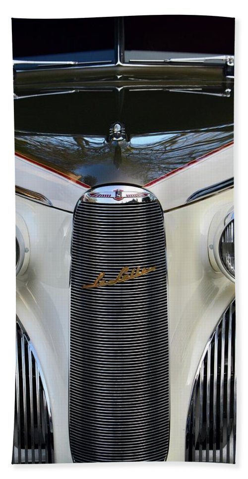 Hand Towel featuring the photograph Classic Car Front End by Dean Ferreira
