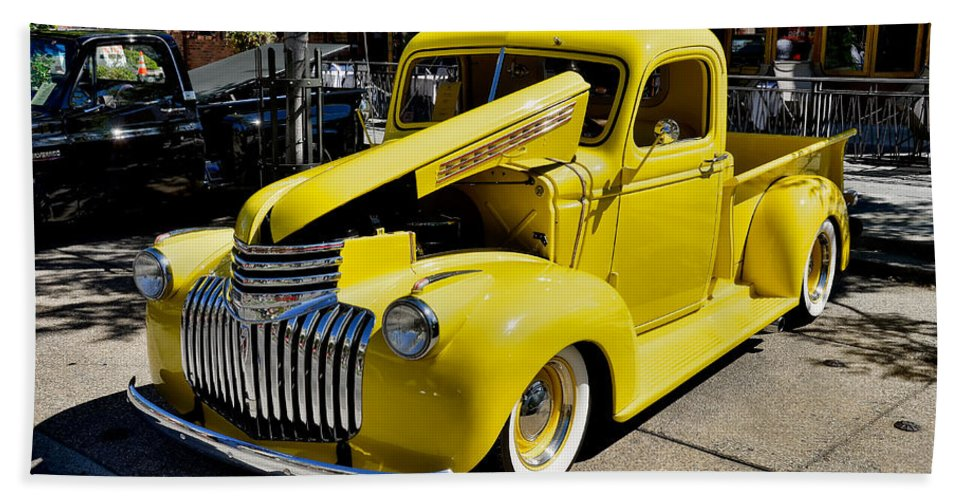 David Lawson Photography Bath Sheet featuring the photograph Classic Chevy Pickup by David Lawson