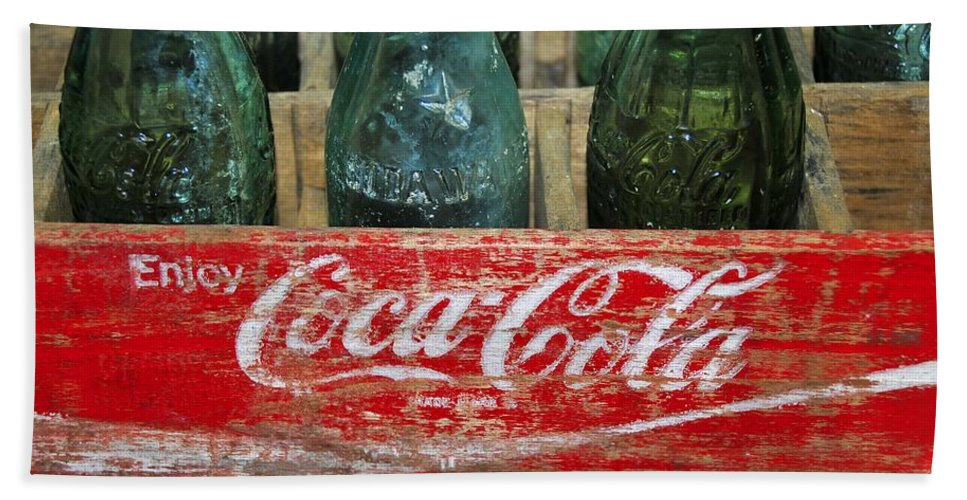 Fine Art Photography Bath Sheet featuring the photograph Classic Coke by David Lee Thompson