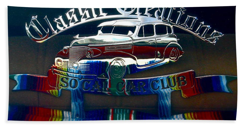 Photograph Of Classic Car Bath Sheet featuring the photograph Classic Creations by Gwyn Newcombe