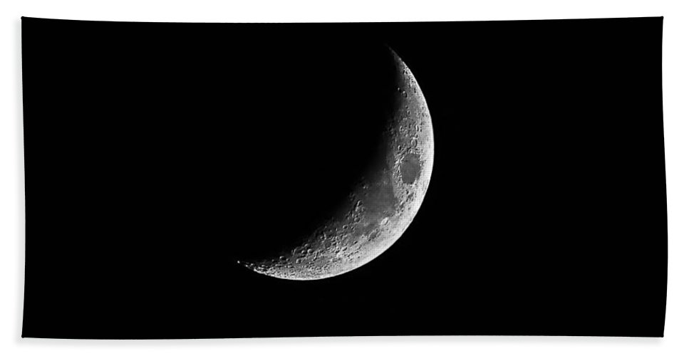 Moon Hand Towel featuring the photograph Classic Crescent Cropped by Al Powell Photography USA