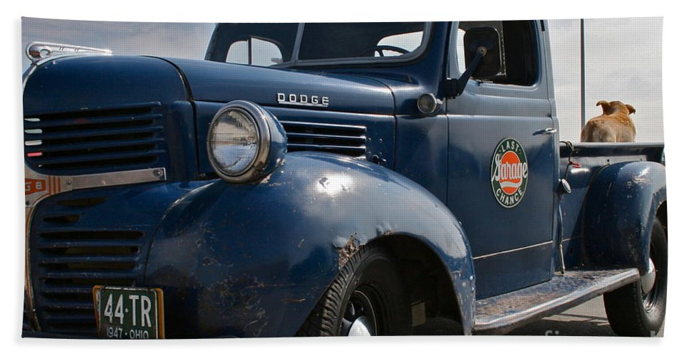 Truck Bath Towel featuring the photograph Classic Dodge by Rick Monyahan