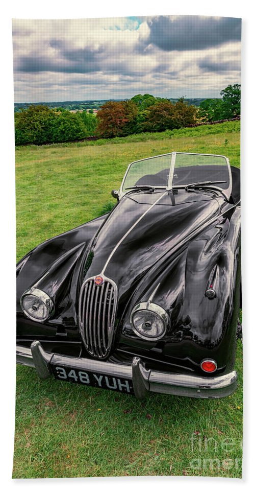 Jaguar Bath Sheet featuring the photograph Classic Jag by Adrian Evans