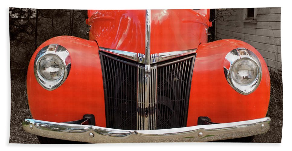 Classic Car Hand Towel featuring the photograph Classic Pick Up Truck by Herman Robert