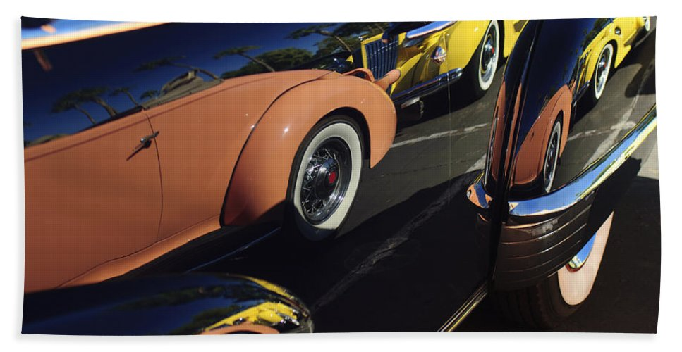 1935 Packard Hand Towel featuring the photograph Classic Reflections by Jill Reger