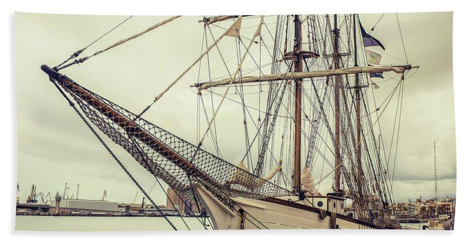 Ship Hand Towel featuring the photograph Classic Sail Ship by Cucu Mihai