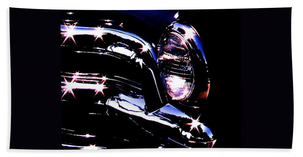 Photograph Of Classic Car Hand Towel featuring the photograph Classic Sparkle by Gwyn Newcombe