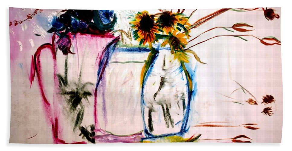Still Life Bath Sheet featuring the painting Clear by Jack Diamond
