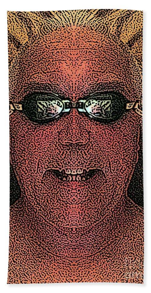 Self Portrait Bath Sheet featuring the digital art Clear Mind by Ron Bissett