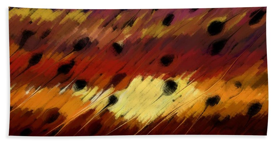 Clear Hand Towel featuring the digital art Clear Strokes by Linda Busch