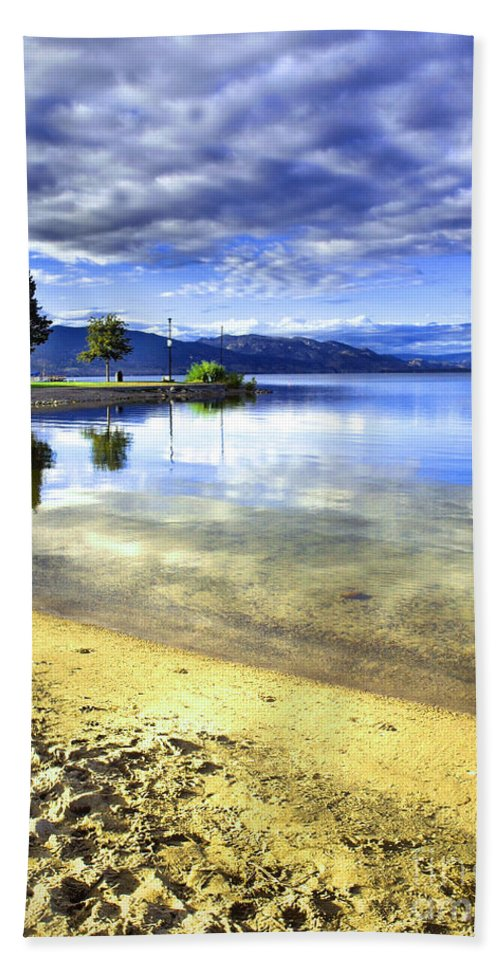 Penticton Hand Towel featuring the photograph Clear Waters by Tara Turner