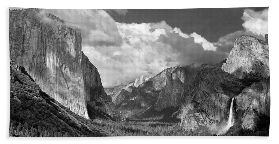 Yosemite Bath Sheet featuring the photograph Clearing Skies Yosemite Valley by Tom and Pat Cory
