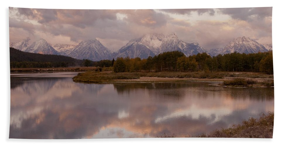 Grand Teton Hand Towel featuring the photograph Clearing Storm At Oxbow Bend by Sandra Bronstein