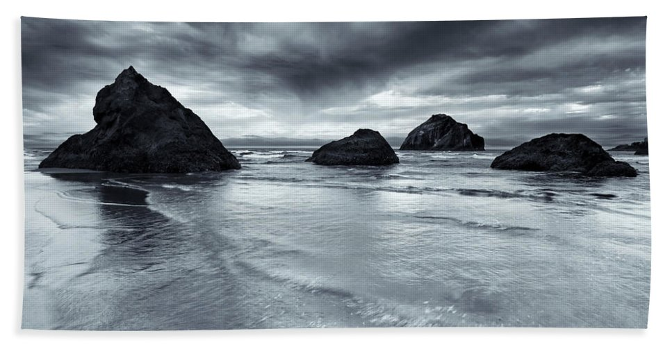Beach Bath Sheet featuring the photograph Clearing Storm by Mike Dawson