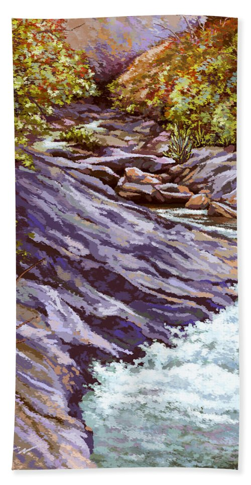 Clearwater Hand Towel featuring the painting Clearwater by Hans Neuhart