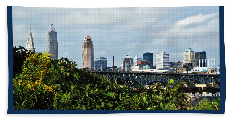 Bridge Bath Towel featuring the photograph Cleveland Poster by Joan Minchak