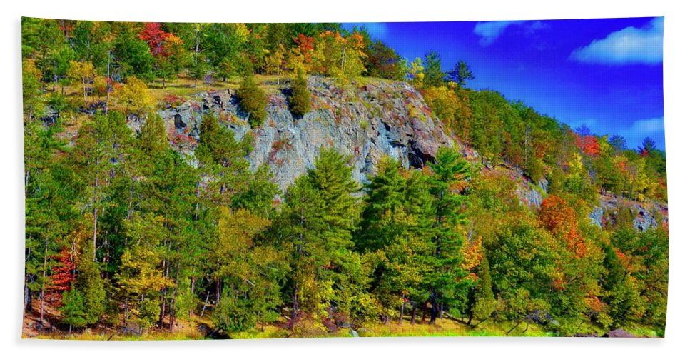 Cliff Bath Sheet featuring the photograph Cliff Of Color by John Fabina