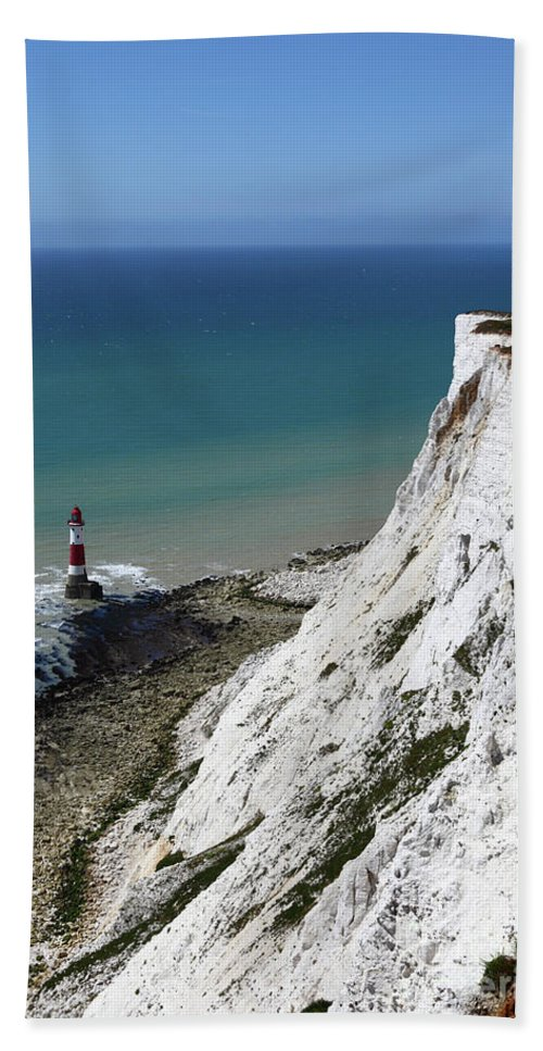 Beachy Head Hand Towel featuring the photograph Cliffs At Beachy Head East Sussex by James Brunker