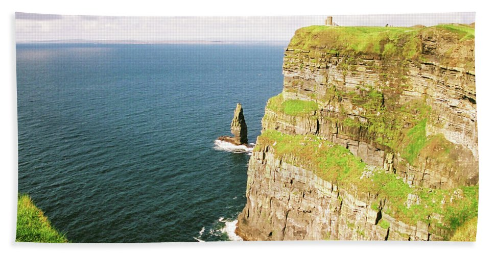 Cliffs Of Moher Bath Sheet featuring the photograph Cliffs Of Moher by Bruce
