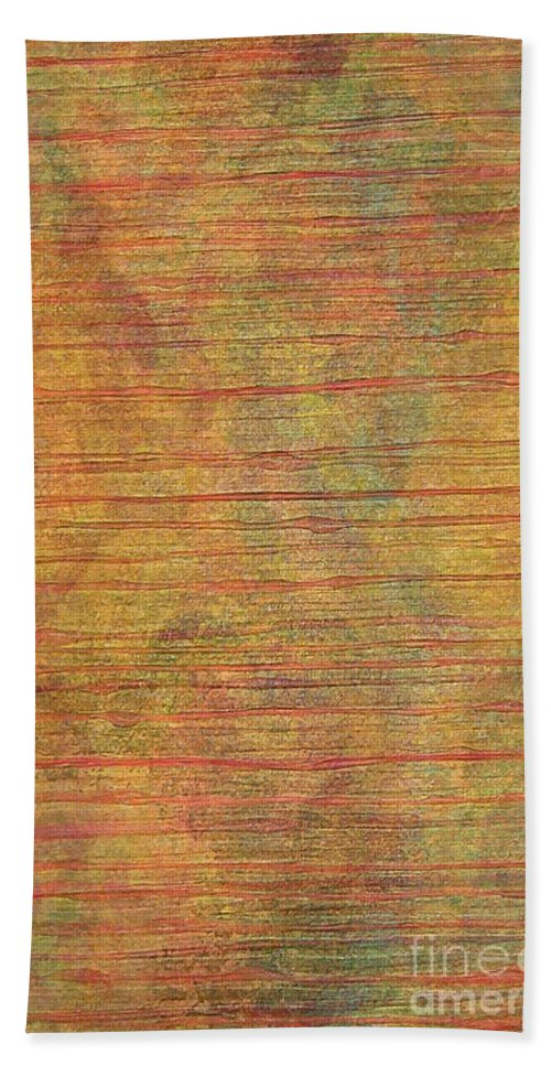 Abstract Acrylic Painting Hand Towel featuring the photograph Climbing Horizons by Trent Jackson