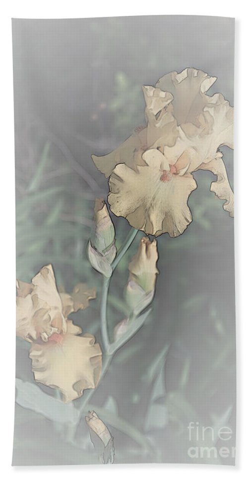Iris Hand Towel featuring the photograph Climbing To The Top by Sherry Hallemeier