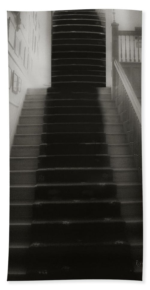 Black And White Hand Towel featuring the photograph Climbing Toward The Unknown by RC DeWinter