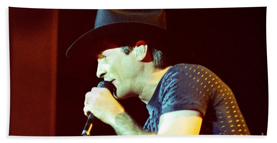 Clint Black Bath Sheet featuring the photograph Clint Black-0840 by Gary Gingrich Galleries