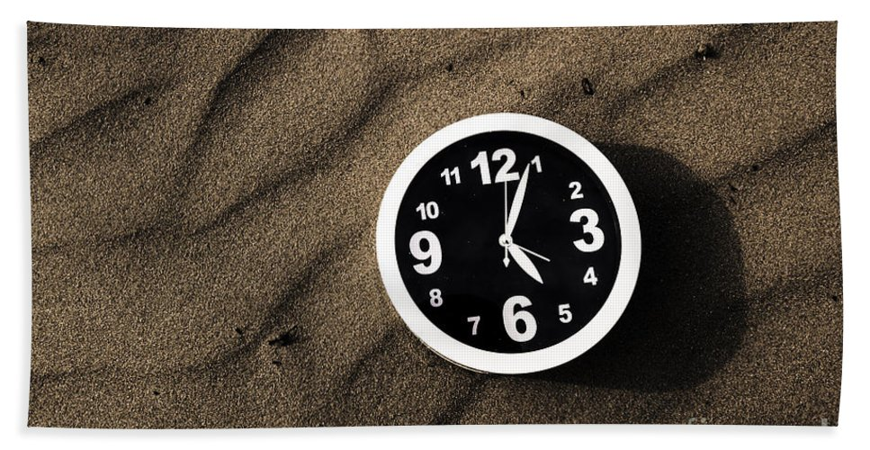 Waiting Hand Towel featuring the photograph Clocks And Ripples by Jorgo Photography - Wall Art Gallery