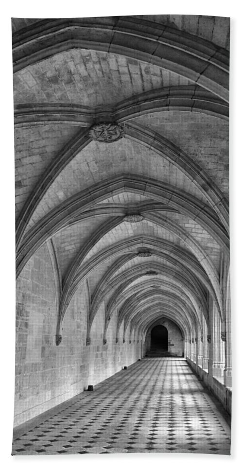 Cloister Hand Towel featuring the photograph Cloister Galleries by Dave Mills