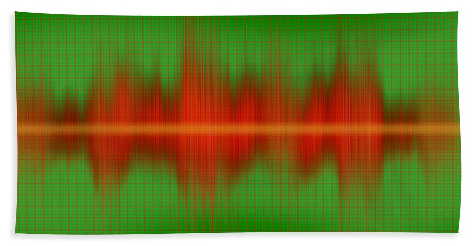 Photography Bath Sheet featuring the photograph Close-up Of Sound Waves by Panoramic Images